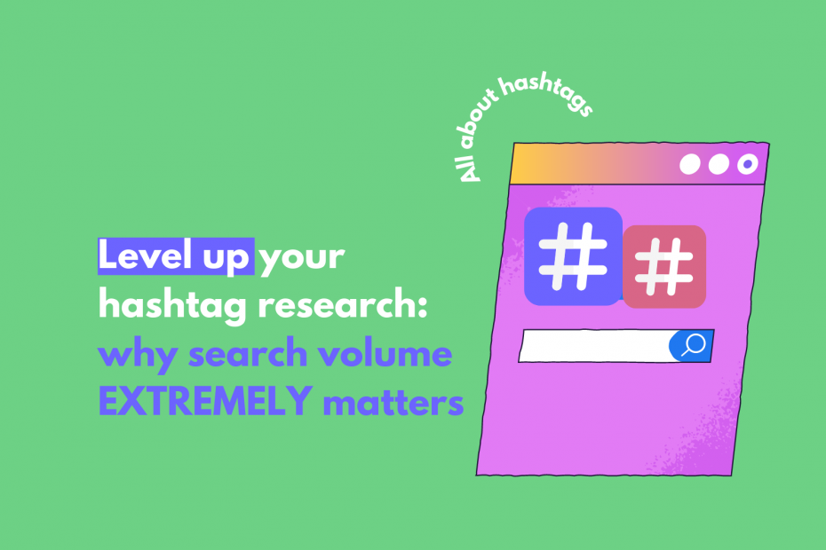 determine the best size of Instagram hashtags search volume